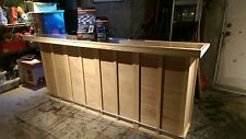 HOME BAR 96x24x42, LED lighting kit included, Finishes Available, S&H Incl