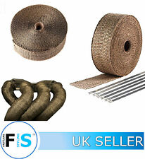 10M TITANIUM MANIFOLD GOLD EXHAUST HEAT WRAP INSULATING TAPE WITH 10 TIES-SZK