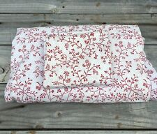 IKEA ALVINE TRAD RED & WHITE FLORAL TWIN DUVET COVER 60 X 80 One Pillow Case