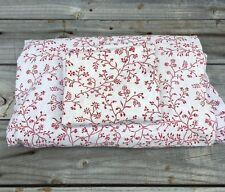 IKEA Alvine Trad Rot & Weiß Blumenmuster Doppel Bettbezug 60 x 80 One Kissenhülle