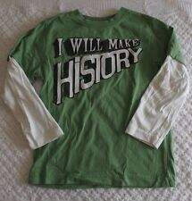 Gymboree 5 Boys I Will Make History Shirt  EUC BTS layered look encouragement