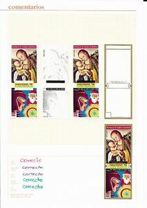 EQUATOR.GUINEA*1972* Stamp & 8 Trial Color Proofs IMPERFECT* Christmas -Mi.No179