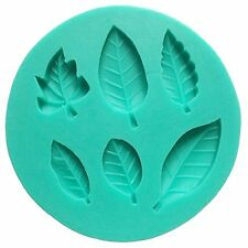 6 Leaves Fondant Leaf Mold - Sugarcraft Leaf Candy Silicone Mould, Gunpaste Cake