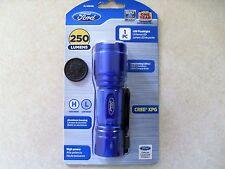 Ford Cree XPG LED Flashlight 250 Lumens FL-1004 + Free AAA Batteries