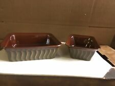 Paula Deen Ceramic Stoneware Baking Dish Set  9x9 And 9x5