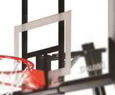 "Spalding 54"" Portable Basketball System Adjustable Hoop Backboard Net Pole 66291"