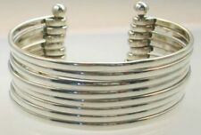 Cuff Bracelet with 8 Sterling Silver .925 Strands Stylish Jewelry