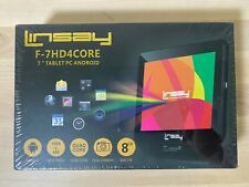 """Linsay F-7HD4CORE Tablet PC 7"""" PC Android HD Quad Core 8GB Dual Camera NEW"""