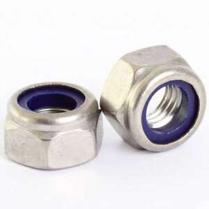 M30 NYLON INSERT NUTS NYLOC BRIGHT ZINC PLATED BZP