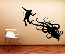 VINILO DECORATIVO BAÑO SALÓN COCHE PARED DECORACIÓN PULPO BUCEO STICKER XXL