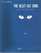 The Alley Cat Song Jack Harlen Frank Bjorn For All Organs Sheet Music 1962