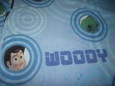 Toy Story Twin Sheet Flat Bedding Blue Material Fabric Woody Buzz Bullseye Rex