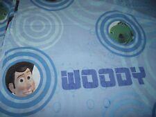 Toy Story Twin Sheet Flat Bedding Blue Material Fabric Woody Buzz Bullseye Rex