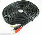 60Ft 20M Aux 3.5mm Gold Male Plug to 2 RCA Gold Male Stereo Audio Cable Cord