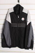 Reebok Pittburgh Steelers NFL Windbreaker Jacket - Black - Size 2XL  (aa9)