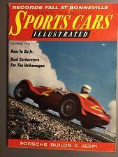 1956 Sports Car Illustrated Magazine Vol.2 #6, December 1956 RARE!! Awesome L@@K
