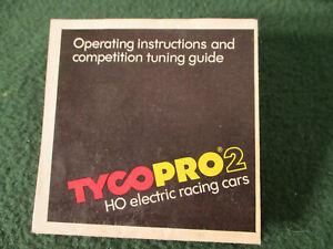 Vintage Tyco Pro2 Color Hobby Shop T Jet Slot Car Track Set Guide