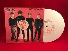"SKIDS Into The Valley 1979 UK 7"" WHITE vinyl single EXCELLENT CONDITION"