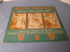 Vintage Artistic Dumb Bells Jokes The Gals Tell Mutoscope Marquee Penny Arcade