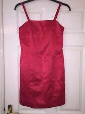 GEORGE LADIES RED SUMMER PARTY COCKTAIL EVENING DRESS, SIZE UK 10  / EUR 38