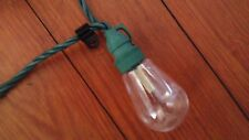 green christmas party lights yellowish white 2 strands about 20 feet