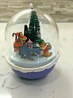 "VINTAGE 1996 HALLMARK ORNAMENT ""SLIPPERY DAY' WINNIE THE POOH MAGIC MOTION"