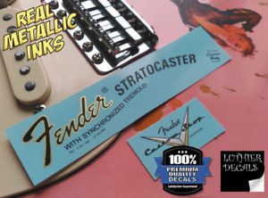 Fender Stratocaster decal waterslide 1970´s (Gold)