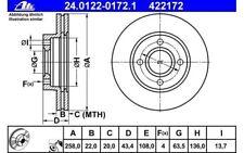 ATE Juego de 2 discos freno Antes 258mm ventilado para FORD FOCUS 24.0122-0172.1