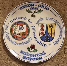 "Used Eaton, Ohio Plate 1981, ""United In Friendship, Goebel, Dated June 13, 1982"