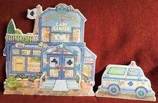Cherished Teddies by Enesco Town Care Center Displayer With Ambulance Crt466