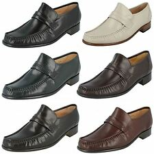 Mens GRENSONS Moccasin Shoes Watford Navy UK 10 G