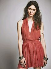 NWOT Free People Be Mine Sequined Mini Dress Halter NEW XS