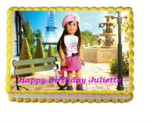 American Girl Doll Edible Cake Topper 1/4 sheet Personalized birthday
