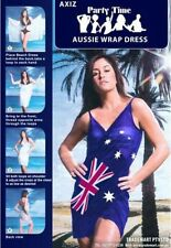 NEW AUSTRALIAN FLAG WRAP DRESS AUSSIE AUSTRALIA DAY SIZE 8/10 BIKINI COVER UP