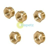 Brass Reducing Hexagon Bush BSP Male to Female Adaptor Connector WRAS Approved