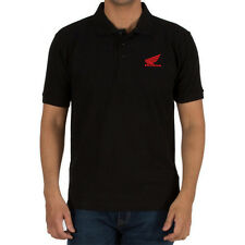Genuine Honda CRF CBR Racing Superbike Extreme Motocross Black Men Polo T-Shirt