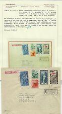 1951 ITALIA REPUBBLICA FESTE CONCORSI GINNICI FIRENZE 5 L SU BUSTA USATO  BIONDI
