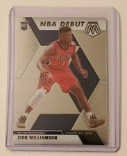 2019-20 Panini Mosaic Zion Williams #269 NBA Debut Rookie Card Pelicans SP RC