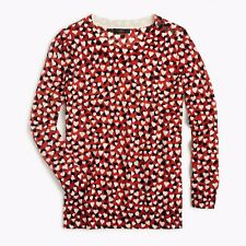 NWT J. Crew Women's Tippi Sweater in Printed Hearts Medium