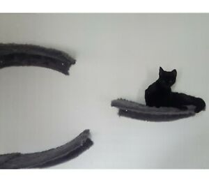 Curved Cat Wall Shelves | Wave