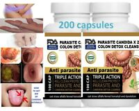 Parasite Cleanse DETOX Liver Colon Yeast Blood KILL Killer vital 200 Cap XL cure