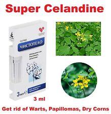 Celandine. Chistotelo Super. Freedom from Warts, Papillomas. Cosmetic fluid