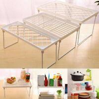 Foldable Storage Rack Stacking Shelf Plastic Organizer Seasoning Food Holder New
