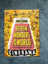 Seven Wonders of the World Cinerama Program 20 pages 1956