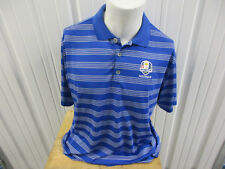 VINTAGE NIKE GOLF PGA RYDER CUP 2012 MEDINAH XL DRI-FIT COLLAR POLO SEWN SHIRT