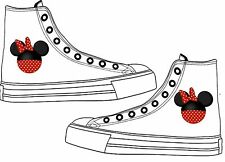 Minine Mouse Disney Adult Custom Converse Shoes Character Personalised White