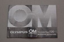 Olympus OM-System T20 electronic flash Instructions Instruction book manual
