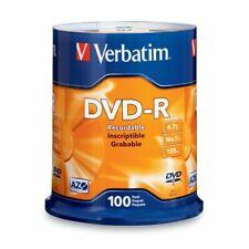 Verbatim Dvd-R 4.7Gb 16X Azo Recordable Media Disc - 100 Disc Spindle (Ffp)