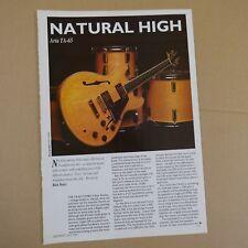 vintage 8x11 magazine cutting ARIA TA-65 review , 1990 , 2 sides