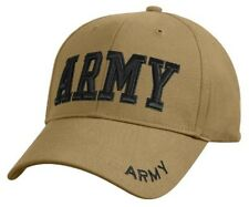 US Army Embroidered Ball Cap Hat Infantry Airborne Cavalry OIF OEF Coyote Brown